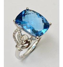 7.14ct Topaz & Diamond Ring