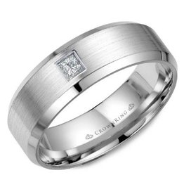 Crown Ring Princess Diamond Sandpaper/Polished