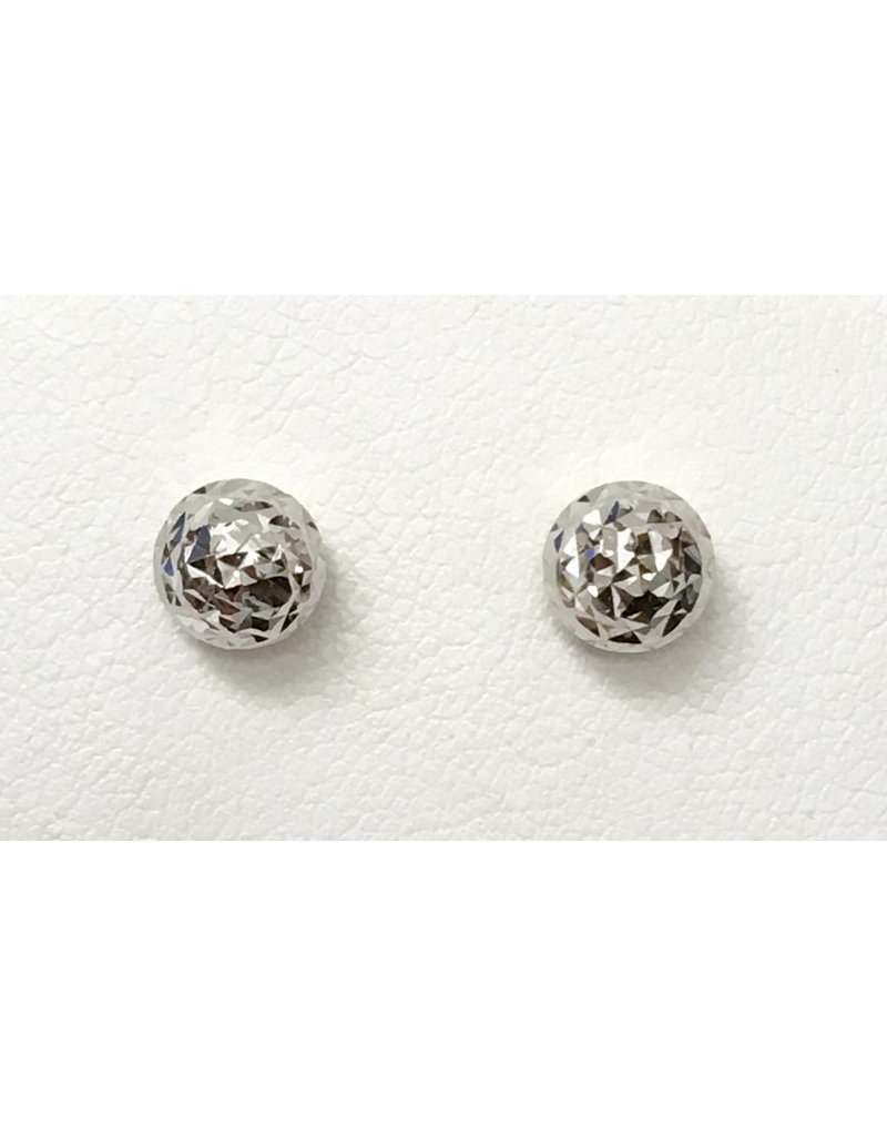 6mm Diamond Cut Stud Earrings 10KW
