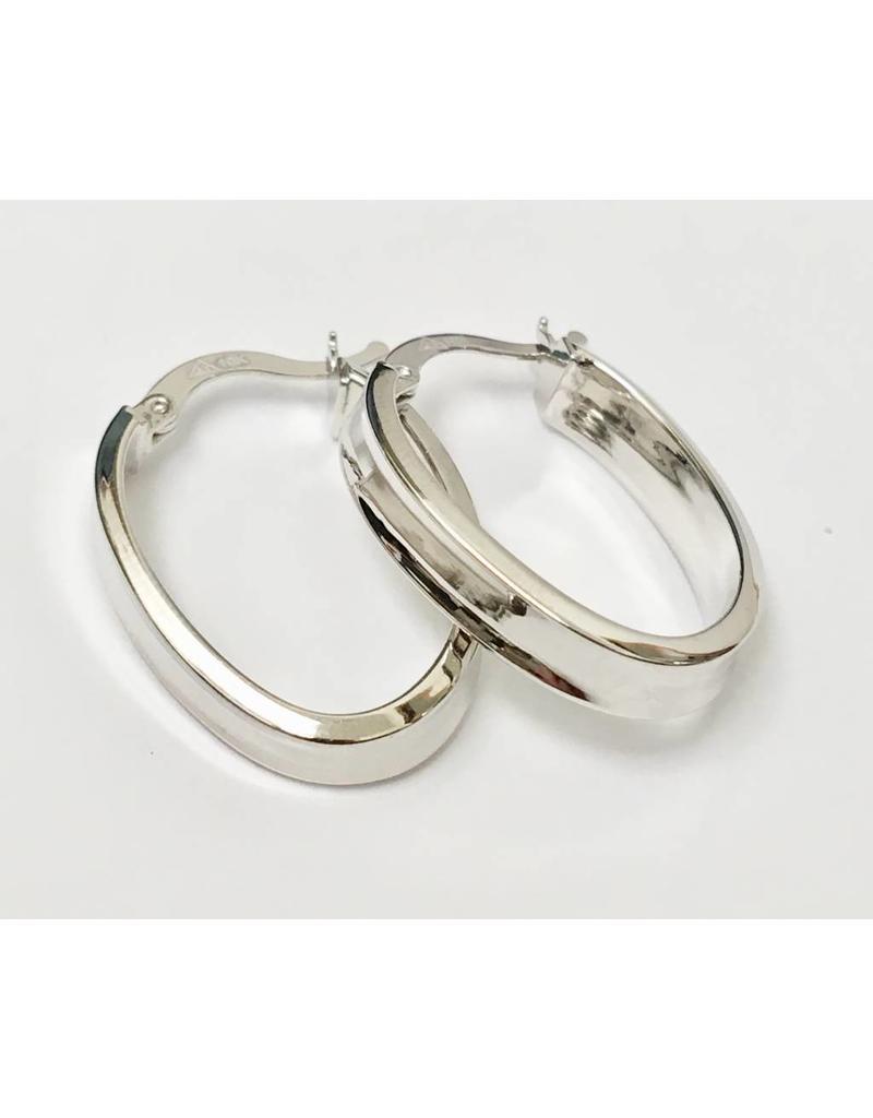25mm Oval Hoop Earrings 10KW