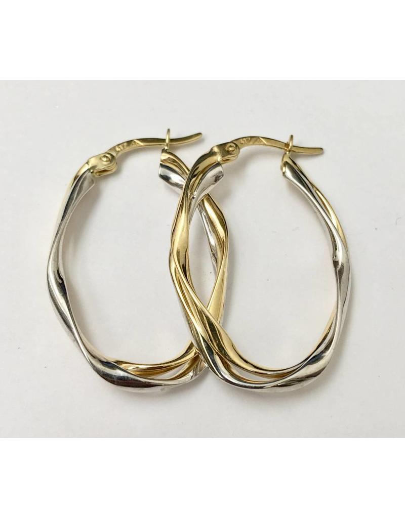30mm Oval Hoop Earrings 10KWY