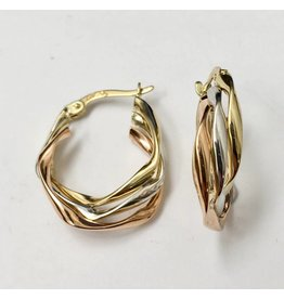 23mm Tri-tone Fancy Hoops
