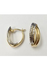 19mm Fancy Hoop Earrings 10KWY