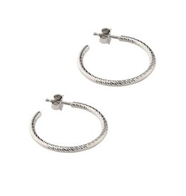 "Frederic Duclos Sparkle Hoop Earrings (1"")"