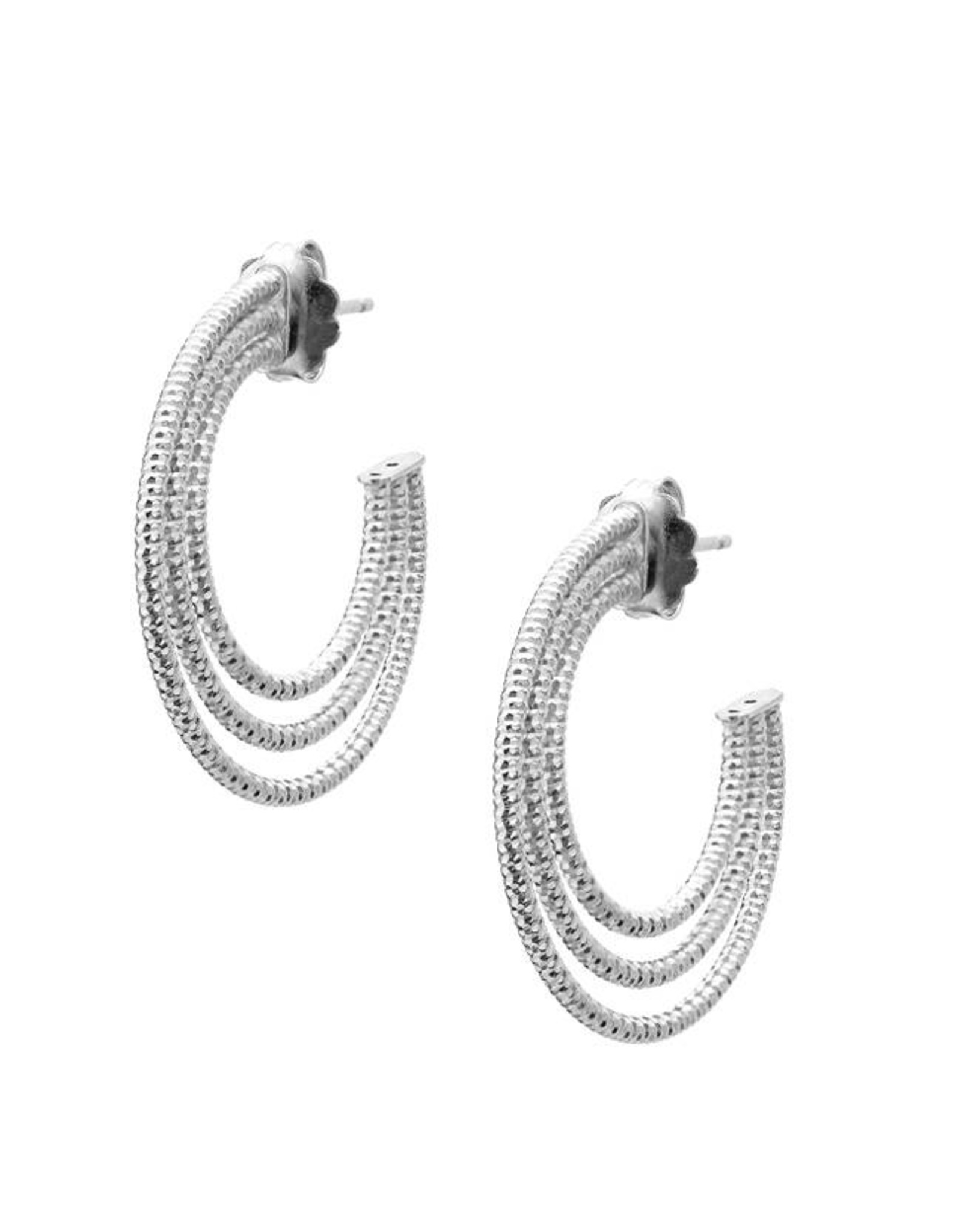 Frederic Duclos Triple Hoop Earrings SS