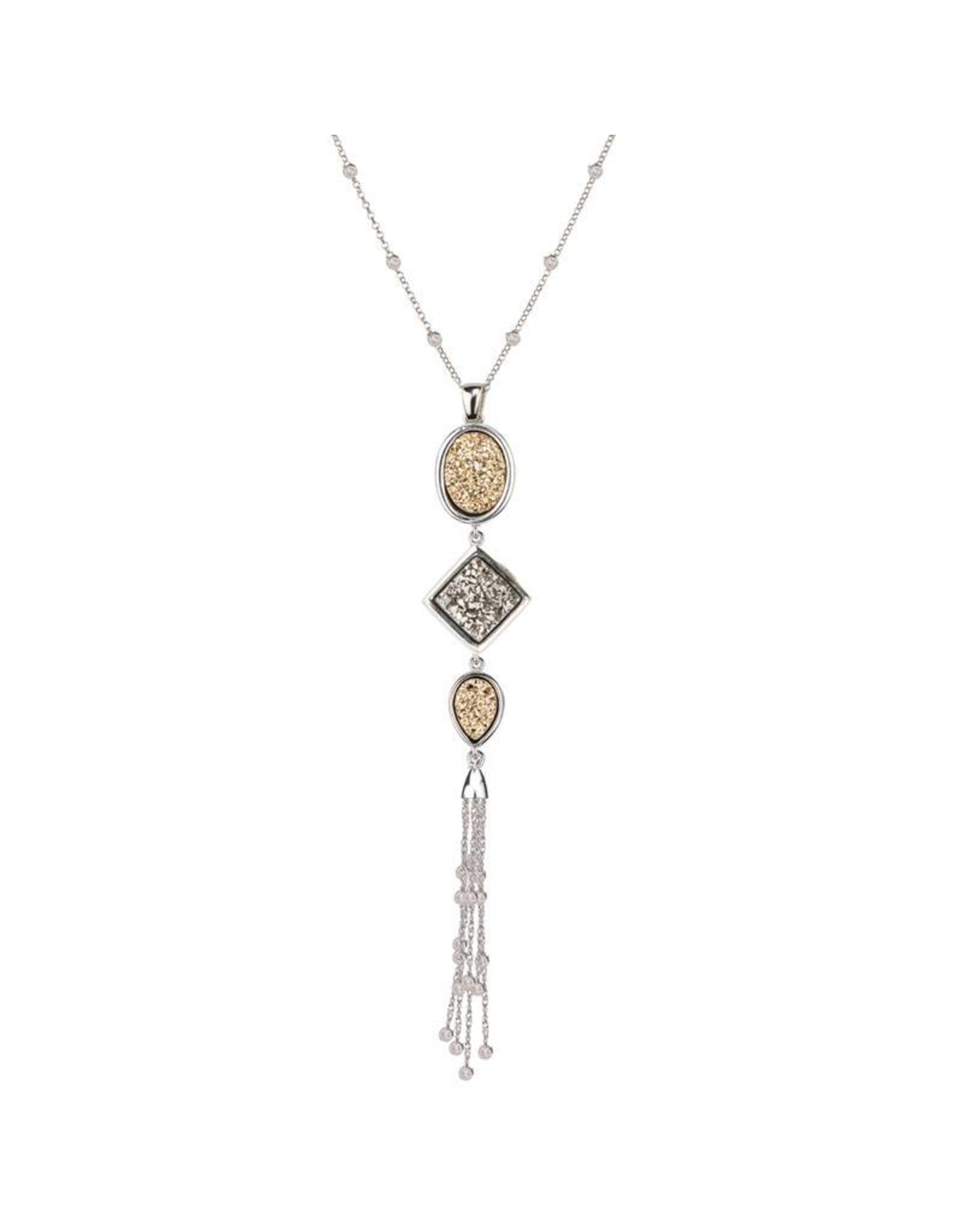 Frederic Duclos Lightning Tassel Necklace SS