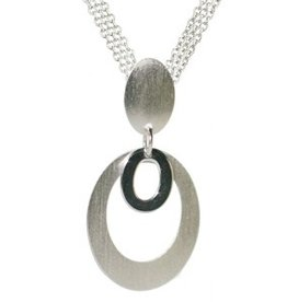Frederic Duclos Double Oval Drop Necklace