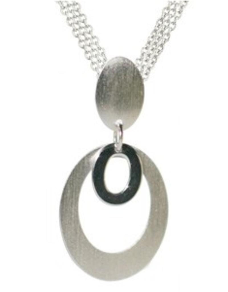 Frederic Duclos Double Oval Drop Necklace SS