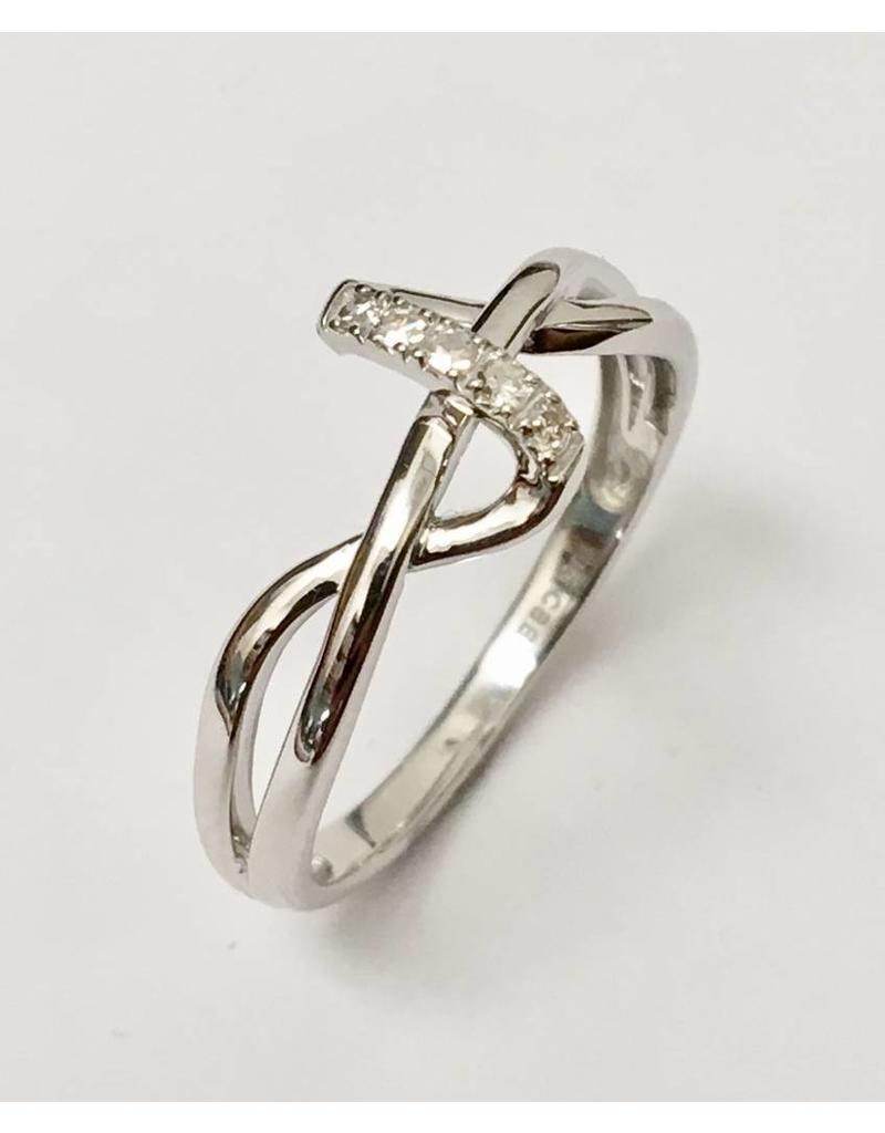 Ladies Diamond Ring Freeform 10KW
