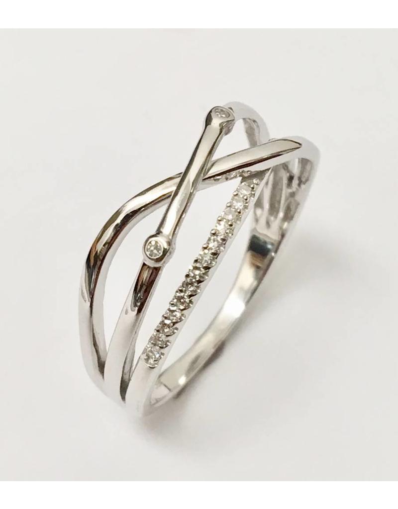 Crossover Diamond Ring 10KW