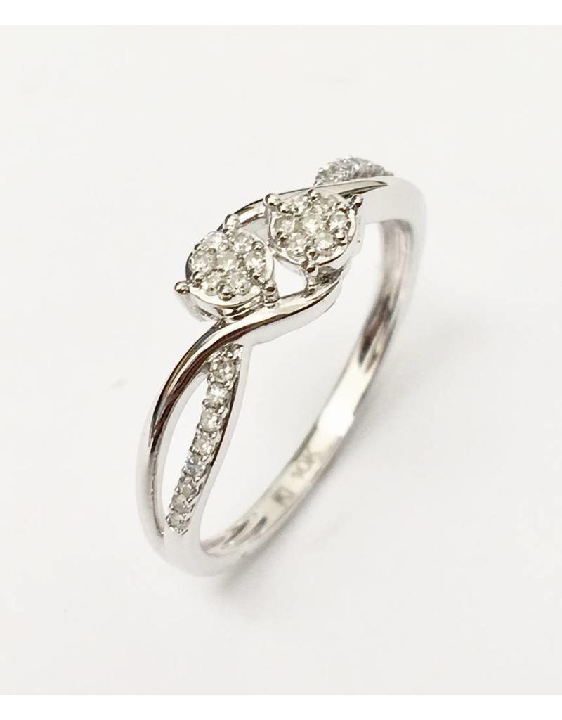 Double Mini Cluster Diamond Ring 10KW