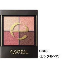 Excel Excel 真我霓裳四色眼影 (CS02号晨曦海棠)