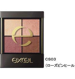 Excel Excel 真我霓裳四色眼影 (CS03号幕格玫瑰)