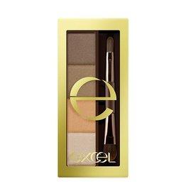 Excel Excel 立體自然眉毛調色盤 四色眉粉 (SE02號澄淨亮棕)