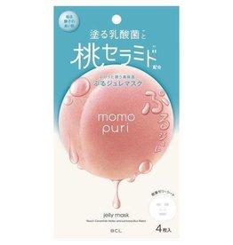 BCL BCL Momo Puri 乳酸菌水蜜桃桃子精华神经胺保湿面膜 4枚入