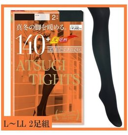 Atsugi厚木发热打底连裤袜2入 (黑色140D L-LL)