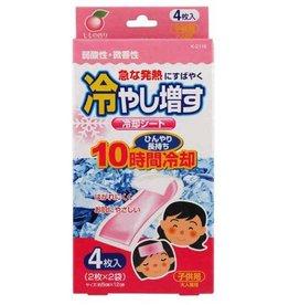 Kokubo 日本兒童退熱貼 4枚入 水蜜桃香