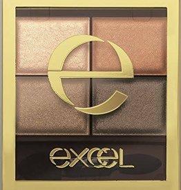 Excel Excel 裸色深邃大地色四色哑光眼影 (SR02号亚麻栗棕)