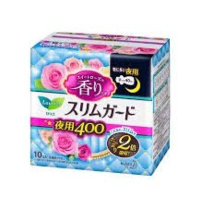 Kao 花王 花王乐而雅零触感量多夜用卫生巾 40cm 甜玫瑰香10枚