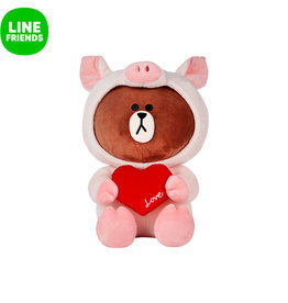 Line Friends 布朗熊坐姿毛绒公仔45cm