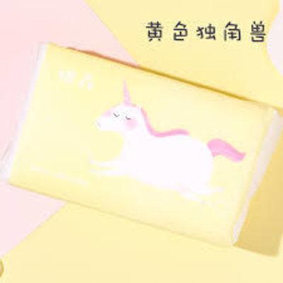 棉森棉柔巾100抽 黃獨角獸