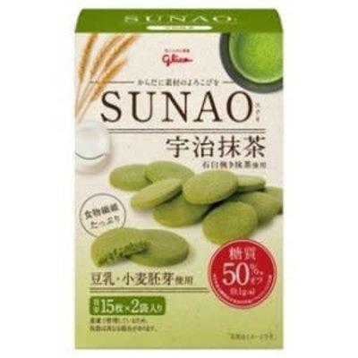 Glico 固力果SUNAO 低糖宇治抹茶豆乳胚芽饼 62G