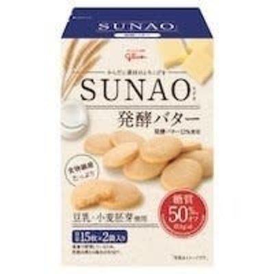 Glico 固力果SUNAO 発酵バター低糖发酵牛油曲奇62G