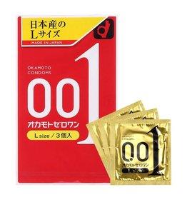 Okamoto 岡本 岡本0.01 安全套 L Size 3入