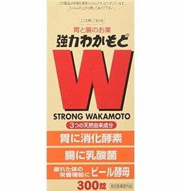 Wakamoto 强力若素诺元锭肠胃锭乳酸菌促进消化清肠胃通便秘 300粒