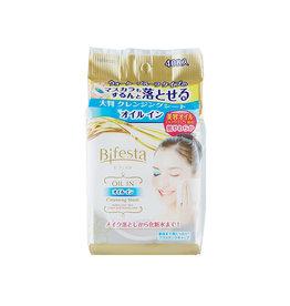 Mandom Beauty Bifesta 毛孔即淨卸妆巾 金色精油滋润型 40枚入