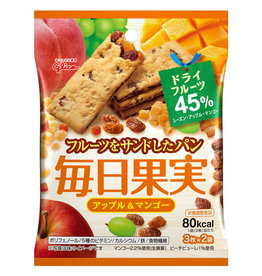 Glico 格力高每日果實餅乾 蘋果芒果味 45G