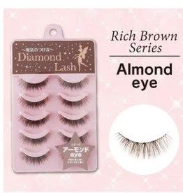 Diamond Lash 自然棕色系大眼交叉中间加密款假睫毛 DL46261 紫盒