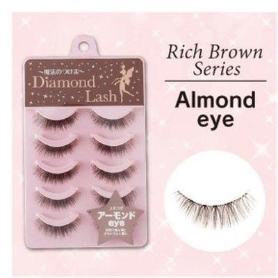 Diamond Lash 自然棕色系大眼交叉中間加密款假睫毛 DL46261 紫盒