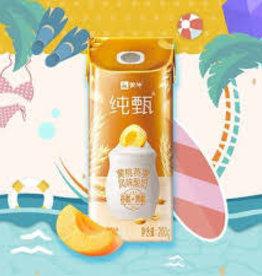 蒙牛纯甄黄桃燕麦风味酸奶200G單只
