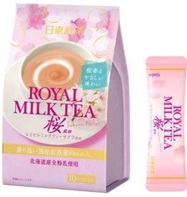 日東紅茶北海道牛乳皇家牛乳奶茶 限定櫻花版 10條入