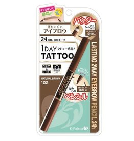 K- Palette K- Palette 1 Day Tattoo 持久防水双头眉笔 102自然棕色