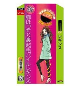 Train 女的欲望发热压力保暖加绒瘦腿连裤袜极厚 (黑色150D L-LL)
