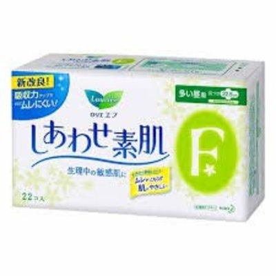Kao 花王 花王乐而雅素肌22片量多日用护翼卫生巾(棉柔面)22.5cm
