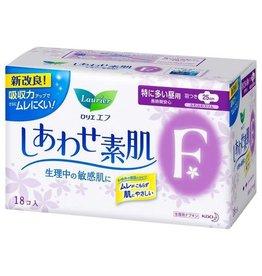 Kao 花王 花王乐而雅f系列超安心透气日用卫生巾护翼型 25Cm 18片