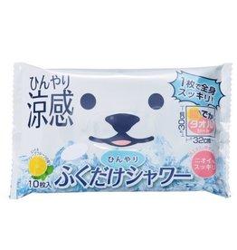 白熊凉感湿纸巾 柠檬味 可全身用 10枚入