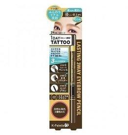 K- Palette K- Palette 1 Day Tattoo 立体三用精华眉笔02骆驼棕色