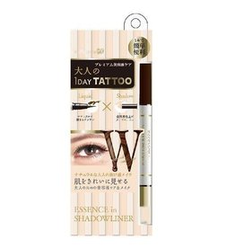K- Palette K- Palette 1 Day Tattoo 双头眼线眼影笔 Deep Brown X Nude Beige
