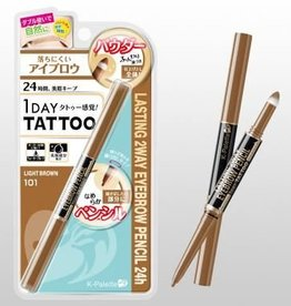 K- Palette K- Palette 1 Day Tattoo 持久防水双头眉笔 101浅棕色
