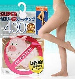 Train 小豬襪階段式著壓美腿襪(膚色)