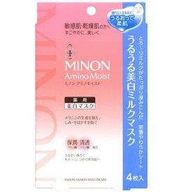 MINON Kevin老師推薦!Minon 氨基酸敏感肌用保濕面膜 最新版本 美白款 4Pc