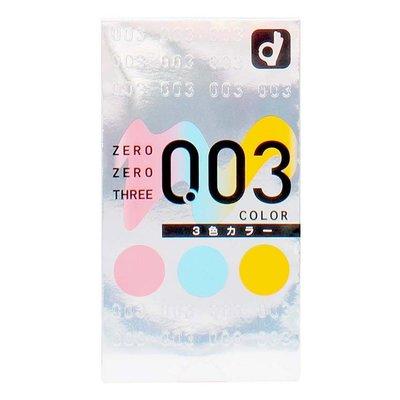 Okamoto 岡本 冈本0.03三色透明超薄安全套12只装