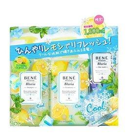 Bene Premium Bluria 清新柠檬香薰无硅油洗护套装(洗发水480ML 护发素480ML) 送发膜(200G) 夏日限定