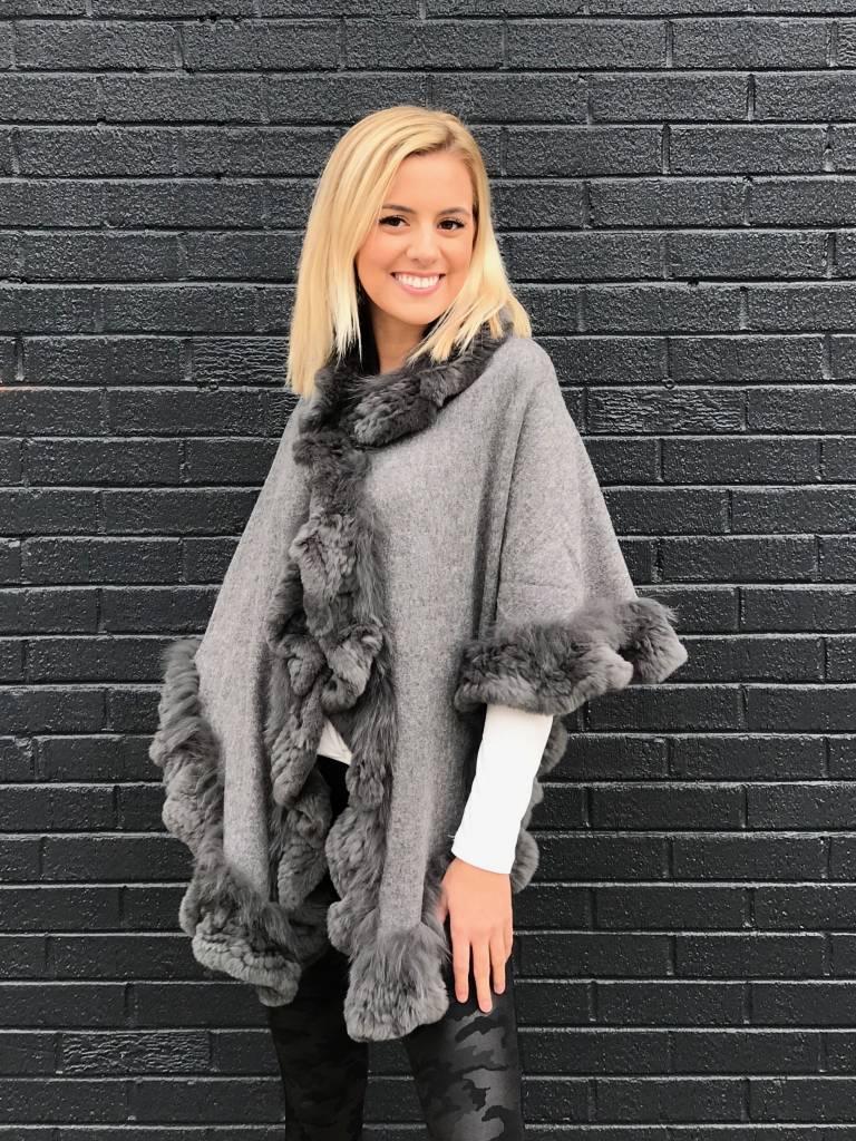 Linda Richards Cashmere/Wool with Fur Trim