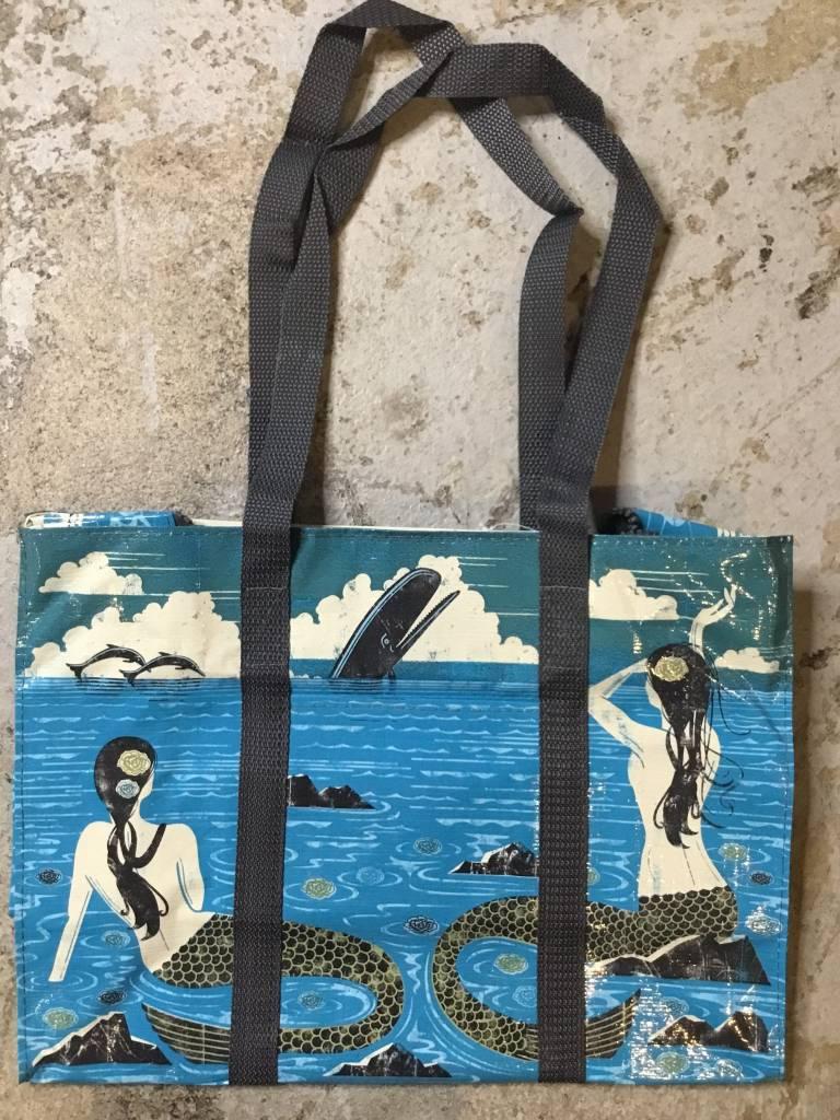 Blue Q Mermaid Shoulder Tote
