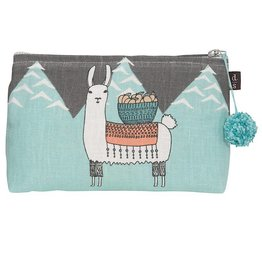 Now Designs Bag Linen Cosmetic Small Llamarama Lama